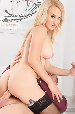 Helena Valentine Fucks With Two Cocks