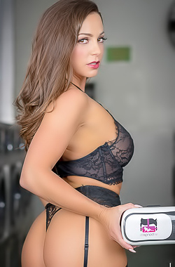 Abigail Mac Stripping Hot Lingerie